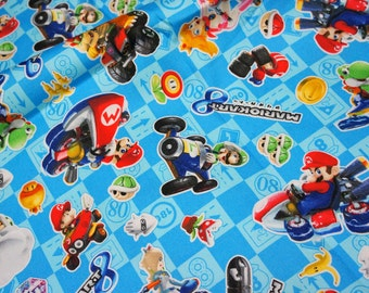 Mario Bross Print Japanese fabric