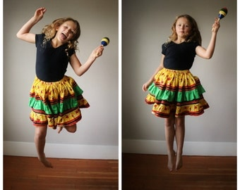1980s Buzzing Bee Twirling Skirt~Size 7/8/10