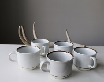 1970s Natural Colonial Mugs~Set of 5