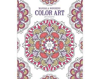 Mandala Wonders Adult Coloring Book Paperback Stress Relief Coloring Book Color Art Designs