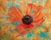 Wall Art Print, Orange Poppy, Flower, Colorful Home Decor Art