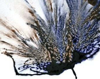 Blue Flower Painting 5x7 Wall Art Original Floral Artwork