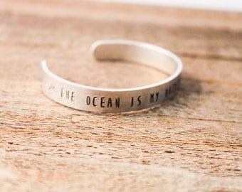 Cuff Bracelet - The ocean is my only medication