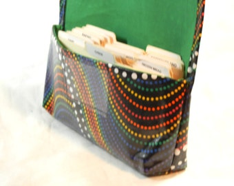 Coupon Organizer, Waterproof, Coupon Holder, Coupon Wallet, Ready to ship, Rainbow Dots