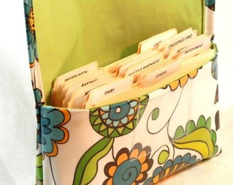 Waterproof Coupon Organizer, Coupon Holder, Coupon Wallet, Receipt Holder, Purse Organizer ,Arty Flowers Celery Lining
