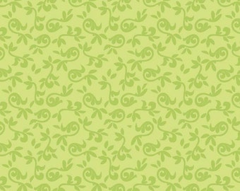 Halle Rose Green Floral Cotton Fabric by Lila Tueller for Riley Blake 1 Yard