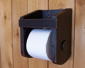 Primitive Toilet Paper Holder for the Bathroom Original Design Farmhouse Favorite / Color Choice