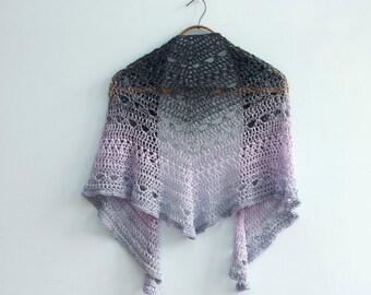 Crochet Shawl Pattern, Lace Shawl, Triangle Shawl Crochet Pattern, Lace Scarf PDF Pattern, Digital Download, Crocheted Evening Wrap Pattern