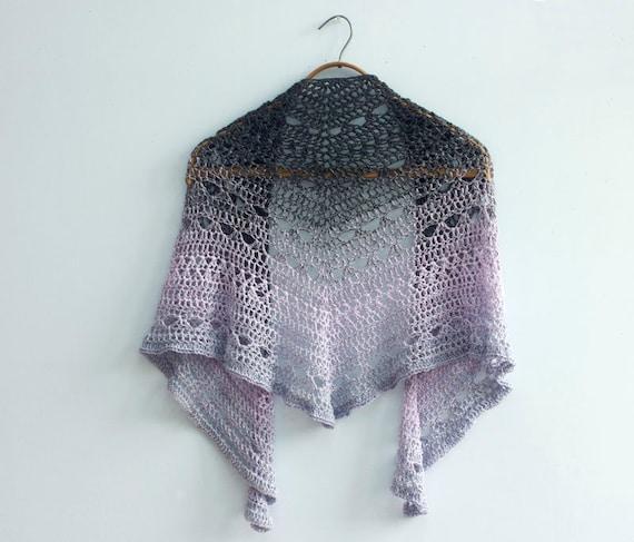 Lace Triangle Shawl Crochet Pattern : Crochet Shawl Pattern Lace Shawl Triangle Shawl Crochet