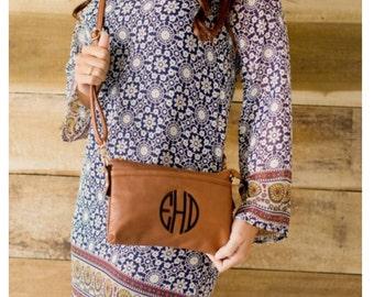 Personalized Wristlet Crossbody Handbag - Purse monogrammed FREE - Preppy gift - clutch