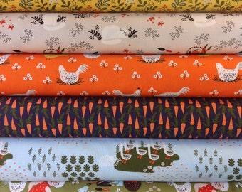 Windham Fabrics Dinara Mirtalipova Gardening Fat Quarter Set - 6 Fat Quarters