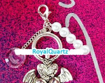 Lovely Keychain - Kawaii Heart and Wings Keychain