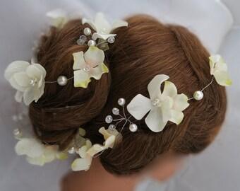 Wedding hair vine bridal flexible hair vine, Silver Crystal Hair Vine, bridal hair accessories, wedding hair accessories