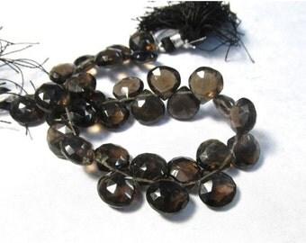 25% Off SALE Fine Natural Smokey Quartz Briolette Beads, 10mm Briolette Beads