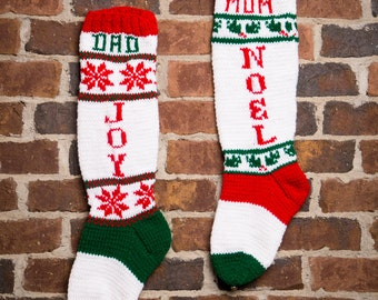 Personalized Christmas Stockings, Personalized Stockings, Knit Christmas Stocking, Knitted Christmas Stockings, Christmas Knitting