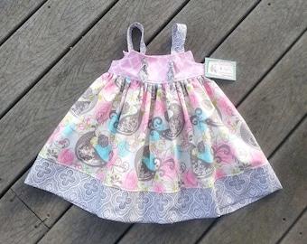 Girls Spring Dress - Bird Dress -  1st Birthday Dress - Toddler Girl Dress - Girls Beach Dress - Sundress -  Groovy Gurlz