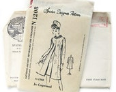 1960s Vintage Sewing Pattern - Spadea N-1208 - Jo Copeland - Designer Pattern Cocktail Dress with Inverted Front Pleat / Size 12 UNCUT FF