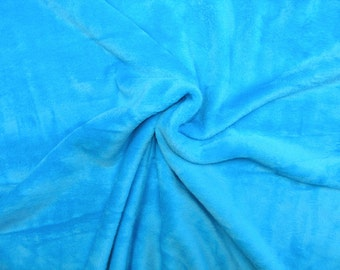 Soft Sweat fleece • turquoise • Fabric  0.54yd (0,5m) 002621