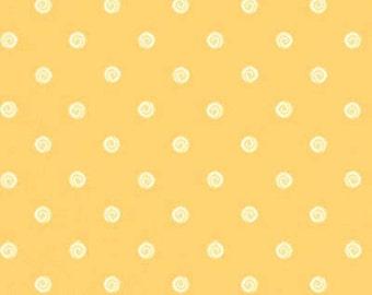 Henry Glass Damask Pastel Yellow Polk Dot Blushing Fabric
