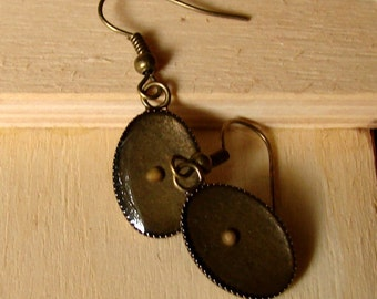 Mustard Seed Earrings... Antique Brass Mustard Seed Earrings - Mustard Seed Dangly Earrings - Mustard Seed Jewelry - Mustard Seed Faith