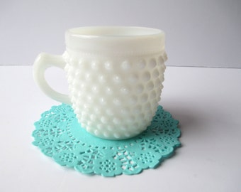 Vintage Fenton Milk Glass Hobnail Childs Cup - Very Rare