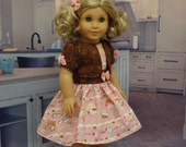 French Macaron - sundress and jacket set for American Girl