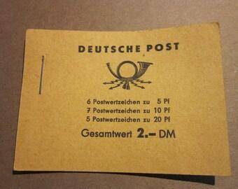 Vintage Deutsche Post Postage Stamp Booklet