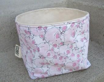 Medium Bucket - fabric storage bin kids room nursery baby
