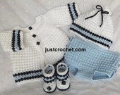 Boys coat, nappy cover, hat and boots Baby Crochet Pattern (DOWNLOAD) 93