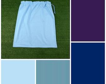 Extra large cotton drawstring bag, NEW colours, blue purple for toys, books, kindergarten