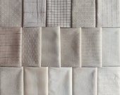 Japanese Taupe fabrics - 16 light fat eighths