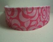 Handmade Girls Woman's Pink Roses Fabric Headband