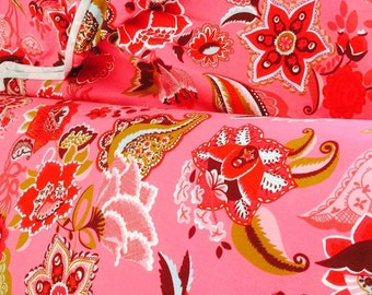 1/2 Yard Euro Knit Oilily Reprint in Pink