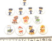 "Custom Order - Dogs and Police Officer 5/8"" or 15 mm"