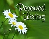 Reserve Custom listing for Joyce