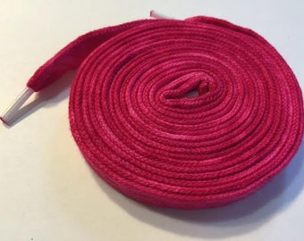 Hand Dyed Shoelaces (54 inch length) Perhaps Pink