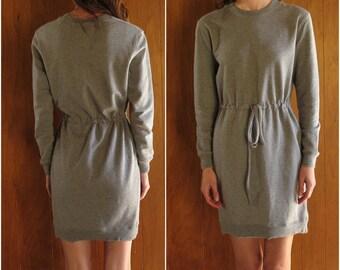 NORMA KAMALI grey slim mini dress, xs
