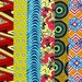 "6 Pieces 6"" Fabric African Wax Print STRIPS Ethnic Cotton Quilt Long"