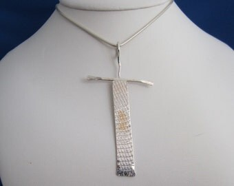 Sterling and Gold Pendant - Body & Soul 17  (SKU 13-016)