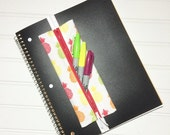 SUMMER SALE - Elastic banded planner pencil pouch - Pineapples