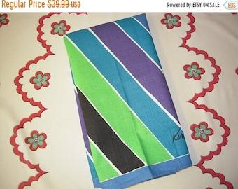 WINTER CLEARANCE Vintage Mod Ken Scott Towel Groovy Stripes MWT
