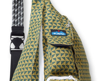 Monogrammed Kavu Rope Bags - Pine Angle - Great gift for College, Teens, Women, Outdoors Satchel Crossbody Tote