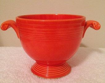 Vintage Fiesta Red Sugar Bowl