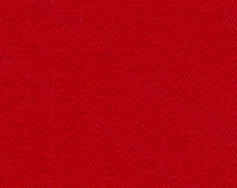 10 oz Brushed COTTON Twill Upholstery Slipcover Fabric RED
