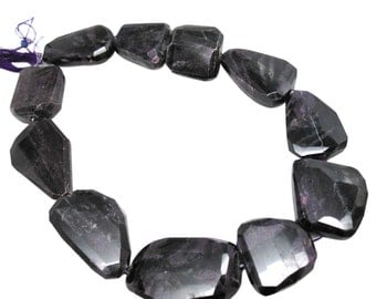 AAA Sugilite Gemstone Beads, 17mm x 22mm, Natural African Sugilite, Faceted Nuggets, SKU 4391