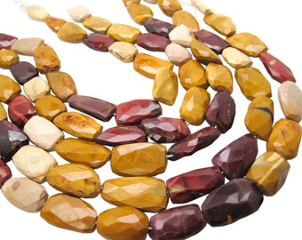 Mookaite Beads, Mookaite Nuggets, Faceted Nuggets, Multi Color Gemstone, SKU 5101A
