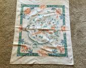 1940s Santa Catalina print map tableclth