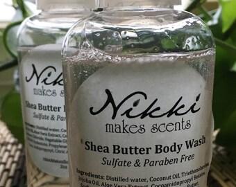 Shea Butter Body Wash Sample - FEMININE scents (your choice)