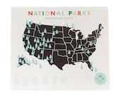 National Parks Map Checklist Canvas - Official Explorers Guide