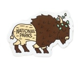 Queen Bison National Park Vinyl Sticker